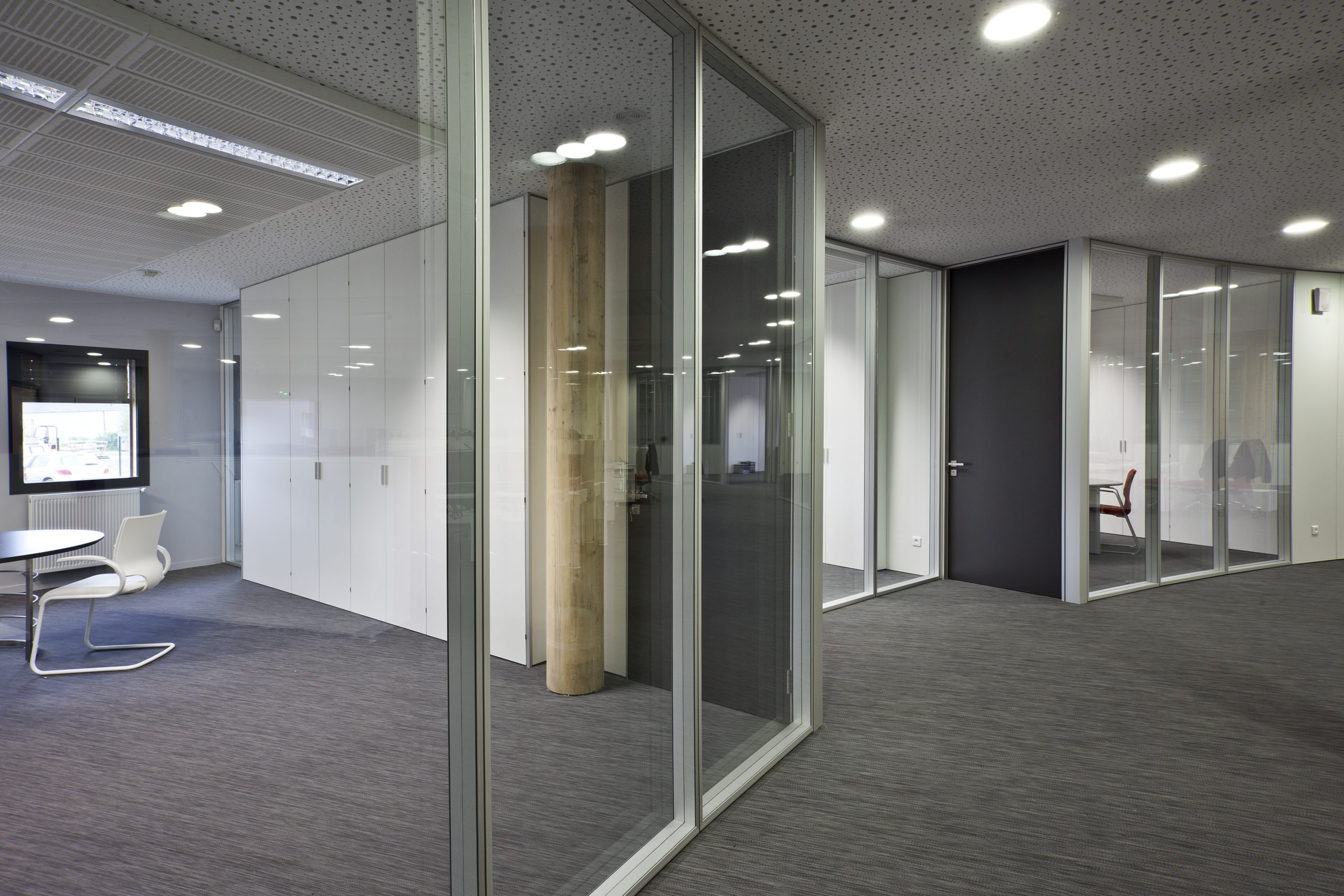 Serie TREBE / mampara modular vidrio enmarcado ST-001